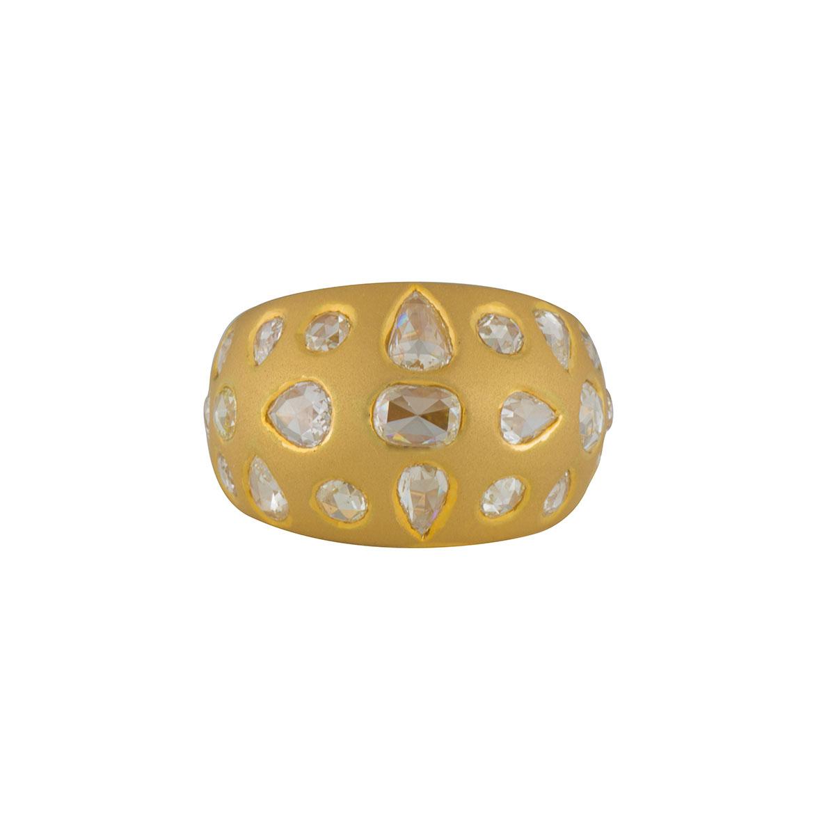 Yellow Gold Diamond Dress Ring 2.91ct
